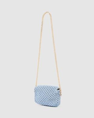 Forever New Camille Crochet Crossbody Bag - Bags (Blue)