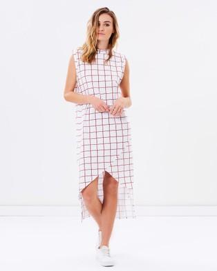 Nana Judy – Quattro Dress – Dresses (Red Grid)