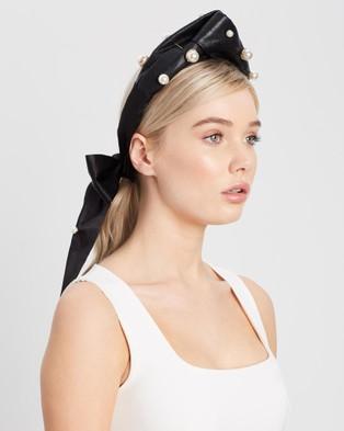 Heather McDowall Clara Turban Headband - Fascinators (Black)