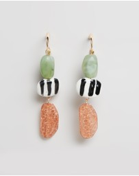 TOPSHOP - Mixed Bead Drop Earrings