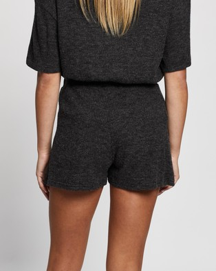 Atmos&Here Willow Relaxed Shorts - Shorts (Grey Marle)