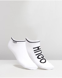 HUGO - Cotton-Blend Ankle-Length Socks 2-Pack