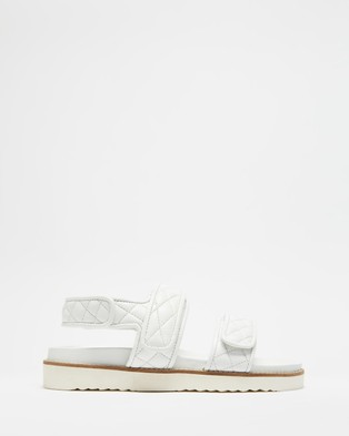 Atmos&Here Margot Leather Sandals - Sandals (White Leather)