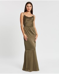 Missguided - Satin Cowl Neck Maxi Dress