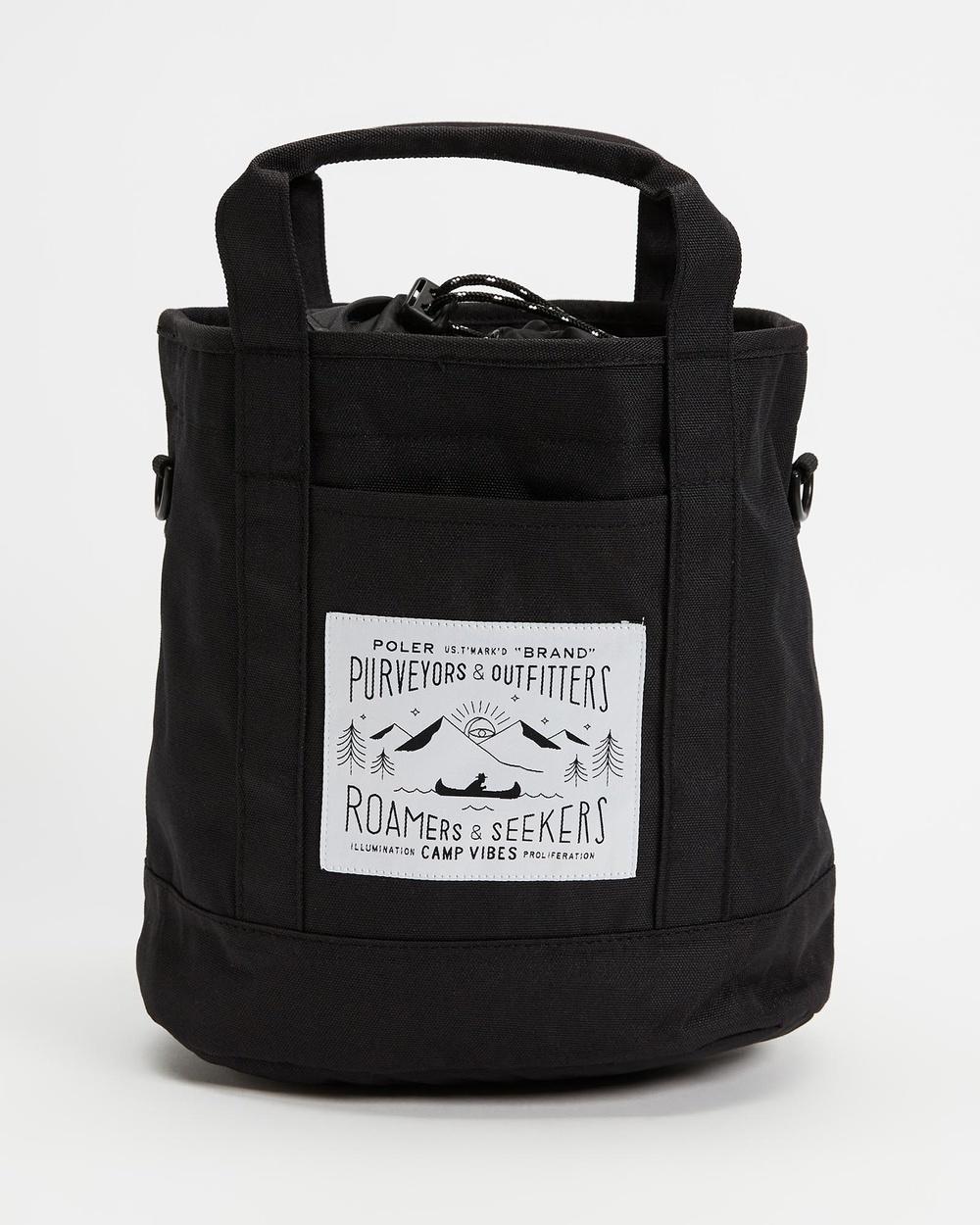 Poler Mini Tote Bags Black