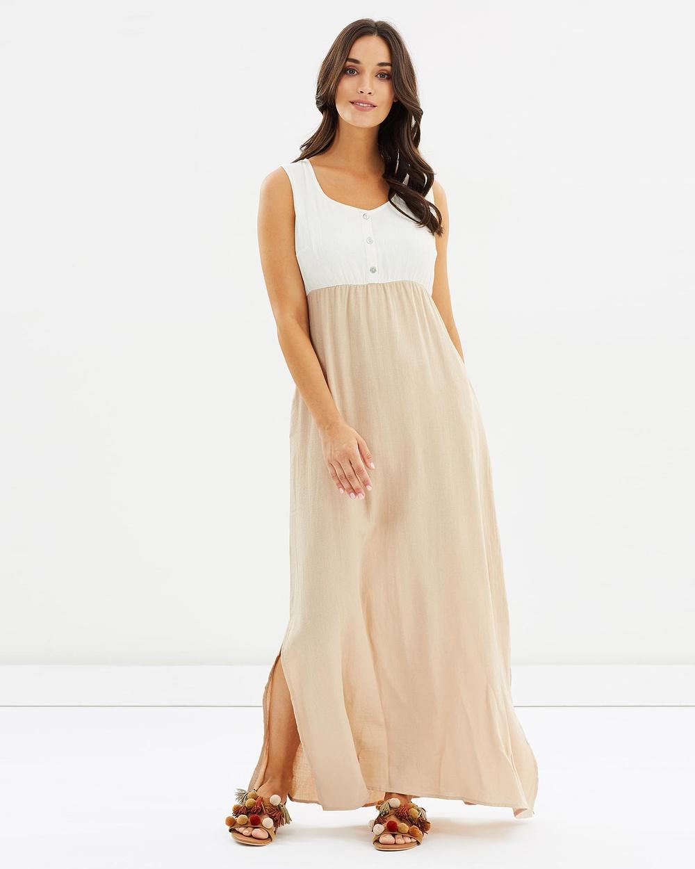 Kaja Clothing Cecilie Dress Dresses White & Camomile Cecilie Dress