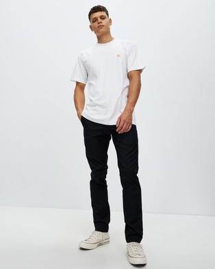 Carhartt SS Chase T Shirt - T-Shirts & Singlets (White & Gold)
