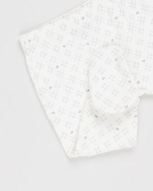 Pappe 2 Pack Bliss Footed Leggings   Babies - Pants (Elderberry & Sassafras Hearts&Crosses)