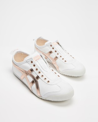 Onitsuka Tiger Mexico 66 Slip On UNISEX Accessories (White & Rose Gold) Slip-On