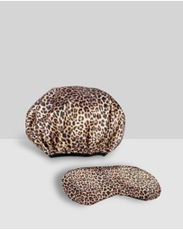 Dilly's Collection - Leopard Beauty Shower Travel Accessory Bundle