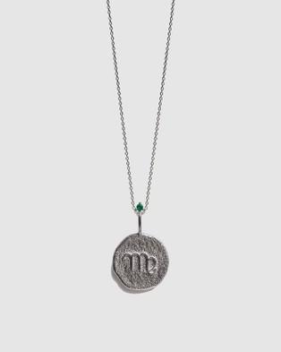Aletheia & Phos The Virgo Zodiac Necklace - Jewellery (Silver & Emerald)