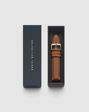 Daniel Wellington Leather Strap Durham 20mm Watch Band For Classic 40mm Watches Silver