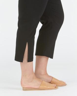 Advocado Plus Side Split Pants - Pants (Black)