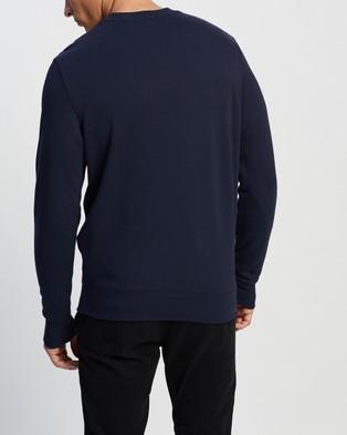 Lacoste L!VE Vintage Tennis Sweatshirt - Sweats (Navy Blue & Multi)