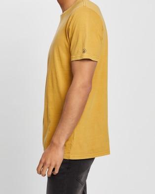 Volcom Wash Solid Short Sleeve Tee - T-Shirts & Singlets (Yellow)
