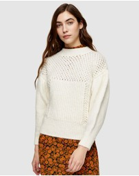 TOPSHOP - Mid-Weight Yoke Knitted Jumper
