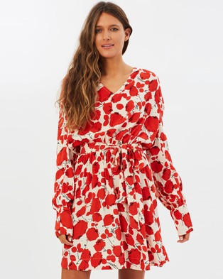 Buy S/W/F - Arabella Dress Rose Print -  shop S/W/F dresses online