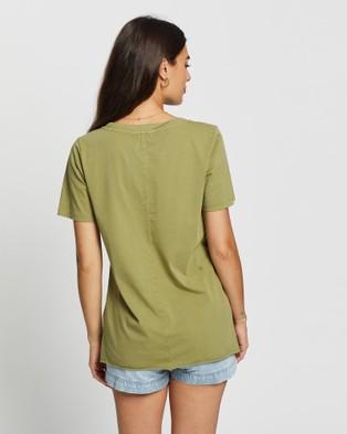 DRICOPER DENIM Nova Loose Tee - T-Shirts & Singlets (Khaki)
