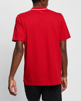 adidas Performance AEROREADY Essentials Piqu?? Small Logo Polo Shirt - Shirts & Polos (Scarlet & White)