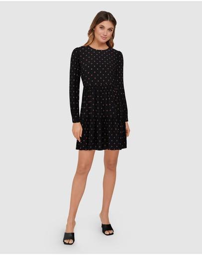 Forever New Demi Smock Mini Dress Print