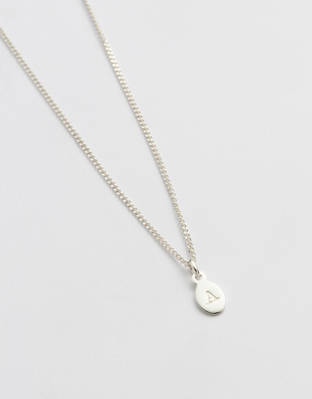 Women Initial A Necklace