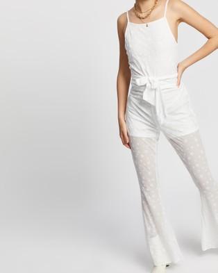 LENNI the label Living Jumpsuit - Jumpsuits & Playsuits (White Star Mesh)