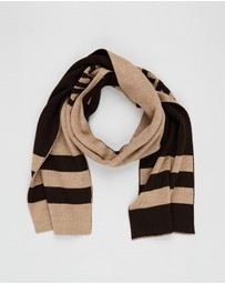 Band of Outsiders - Band Scarf with Stripe Detail