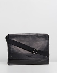 Kenneth Cole - Leather East & West Messenger Bag
