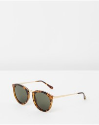 Le Specs - No Smirking Tort and Gold Round Sunglasses
