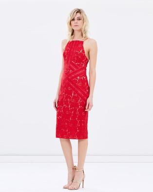 Lover – Rapture Fitted Dress – Dresses (Scarlet)