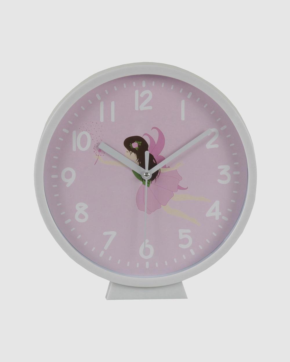 Bobbleart Wall Clock Fairy Novelty Gifts Light Pink