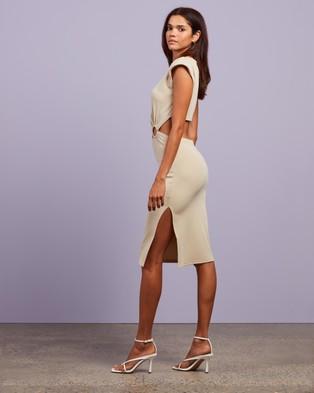 4th & Reckless Vita Dress - Bodycon Dresses (Nude Rib Jersey)