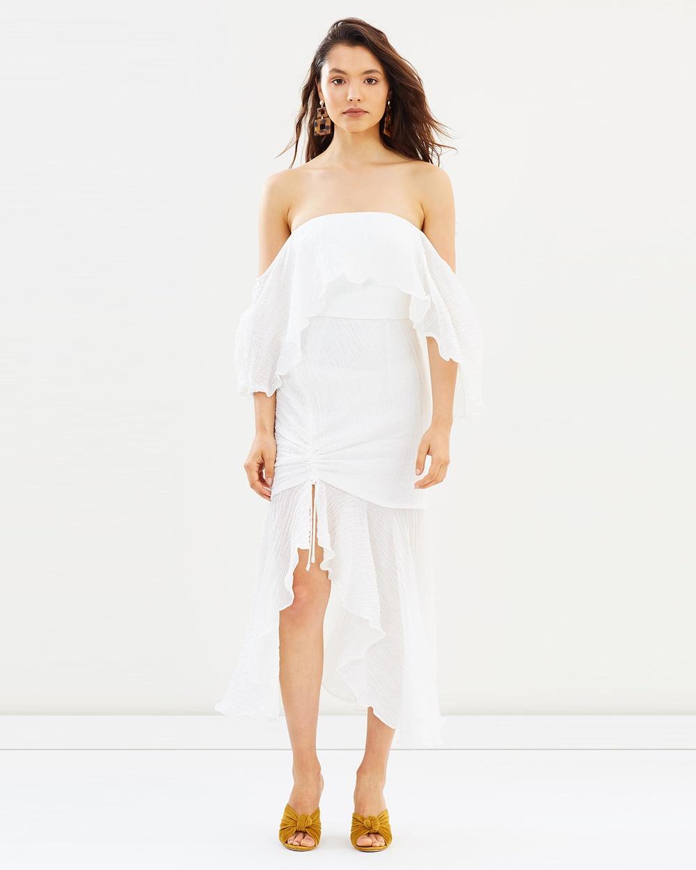 C-MEO COLLECTIVE Sacrifices Midi Dress Dresses Ivory Sacrifices Midi Dress