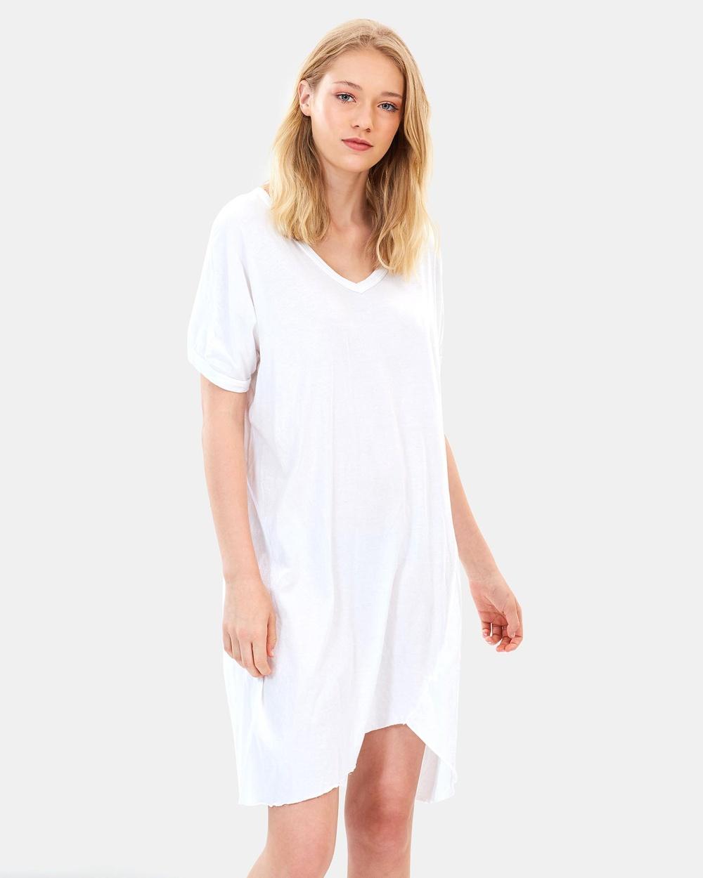 Primness Hap Tee Dress Dresses Blanc Hap Tee Dress