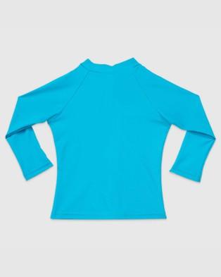 Aqua Blu Kids Stepping Stones Long Sleeve Rash Vest   Babies - Swimwear (Blue)