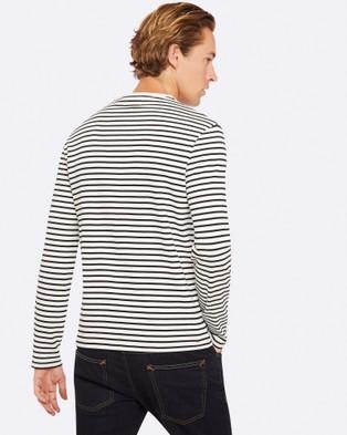 Oxford Parker Striped Crew Neck T Shirt - T-Shirts & Singlets (Black)
