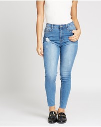 Missguided Petite - Sinner Clean Distress Jeans