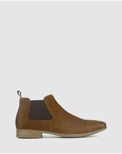 Zu Boston Leather Chelsea Boots Tan