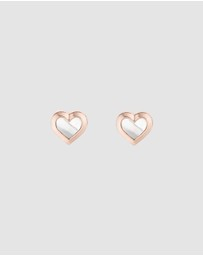 Ted Baker - Heila Mother Of Pearl Heart Studs