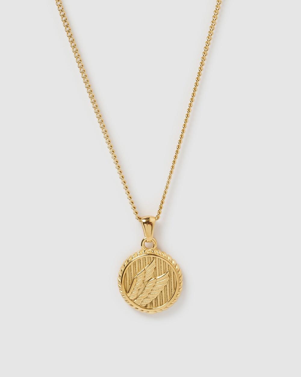 Miz Casa and Co Amanda Pendant Necklace Jewellery Gold