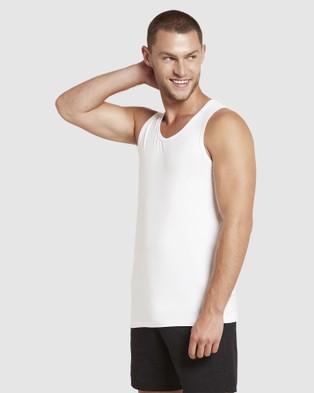 Boody Organic Bamboo Eco Wear - 2 Pack Singlet T-Shirts & Singlets (Multi)