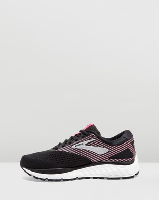 Brooks Addiction 14   Women's - Performance Shoes (Black, Hot Pink & Silver)