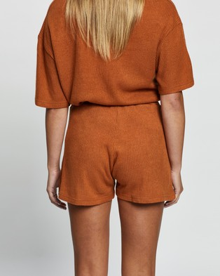 Atmos&Here Willow Relaxed Shorts - Shorts (Mocha)