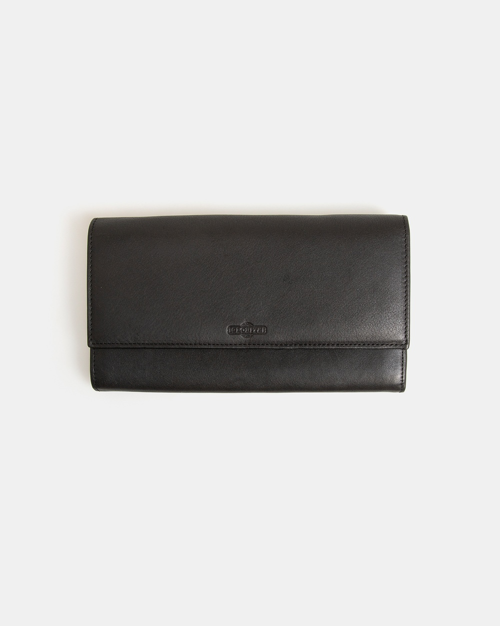 Globite Leather Travel Clutch with RFID and Luggage Black