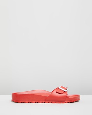 Birkenstock Womens Madrid EVA Narrow Slides - Sandals (Red)