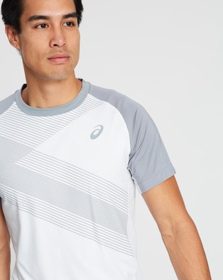 ASICS Club Gpx Tee   Men's - T-Shirts & Singlets (Brilliant White)