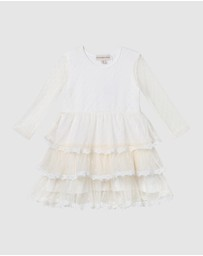 Designer Kidz - Poppy L/S Tiered Tulle Dress