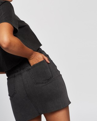 All About Eve Isabella Mini Skirt - Jeans (Washed Black)