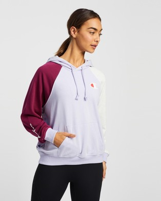 Champion French Terry Colour Block Hoodie - Hoodies (Lilac Lillies)