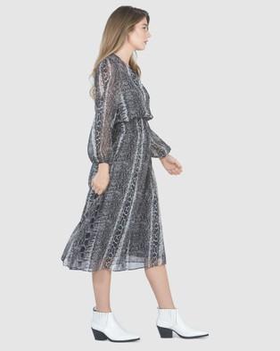 Faye Black Label Venom Shirred Dress - Printed Dresses (Snake)